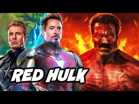 Avengers Endgame Red Hulk Scene - Alternate Red Hulk Origin Story Breakdown