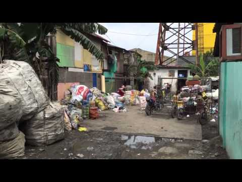 Church meeting in the slums of Tondo, Manila in the Philippines