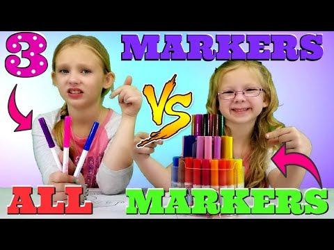 3 MARKER vs ALL MARKERS Challenge!!!