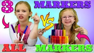 3 MARKER vs ALL MARKERS Challenge!!!