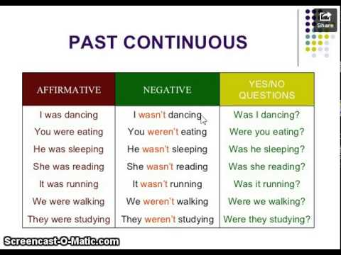 Past Continuous (Evidencia 1) - YouTube