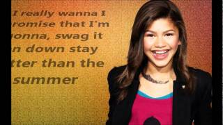 Zendaya Coleman- Swag it out Lyrics