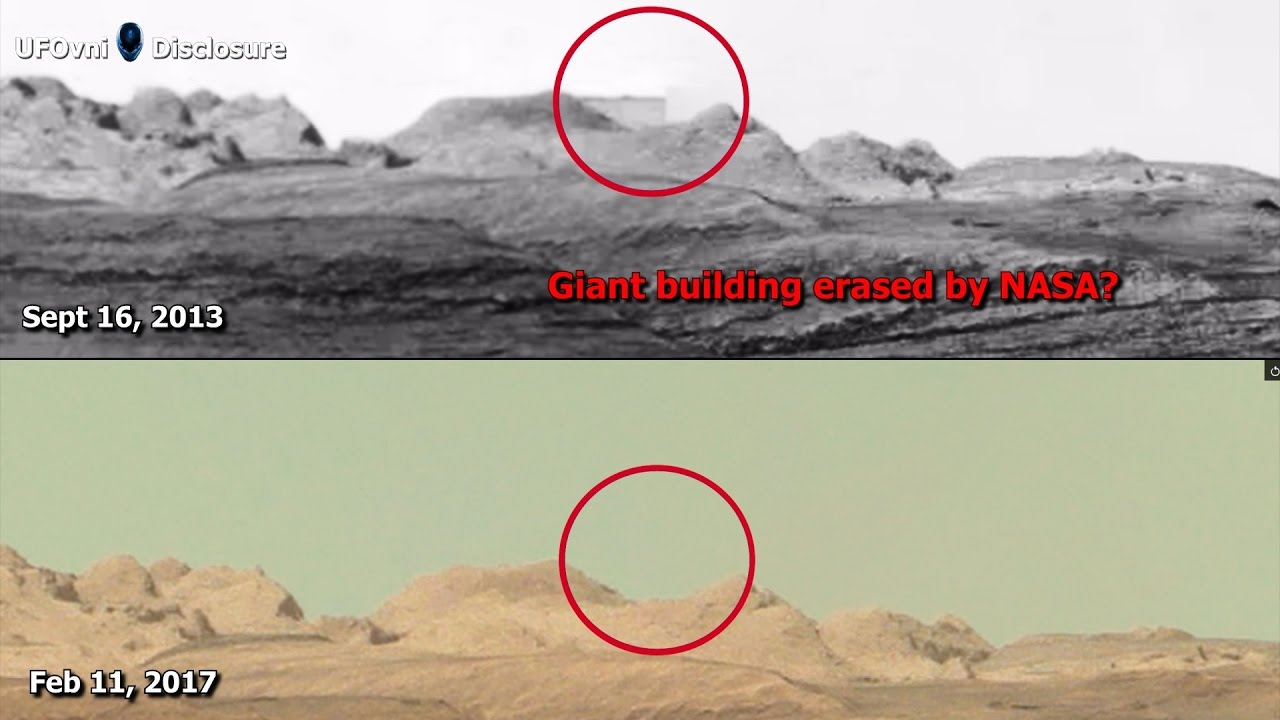 Image result for Giant building erased by NASA? On Mars