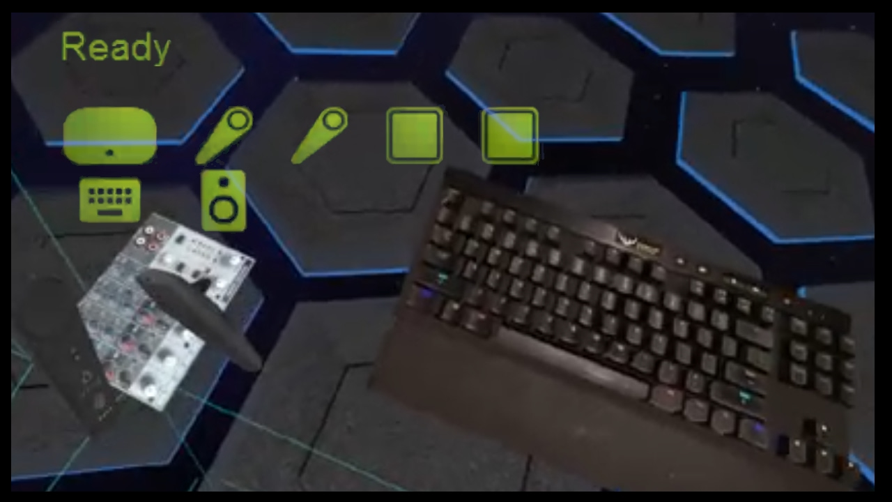 SteamVR Keyboard & Mixer Reference Objects