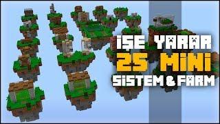 BAŞLANGIÇ SEVİYESİ 25 MİNİ SİSTEM ve FARM !! Minecraft