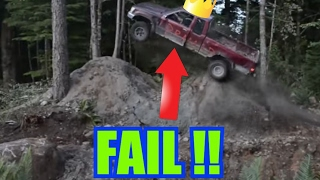 Guy Destroys his truck in Crazy Jump!!
