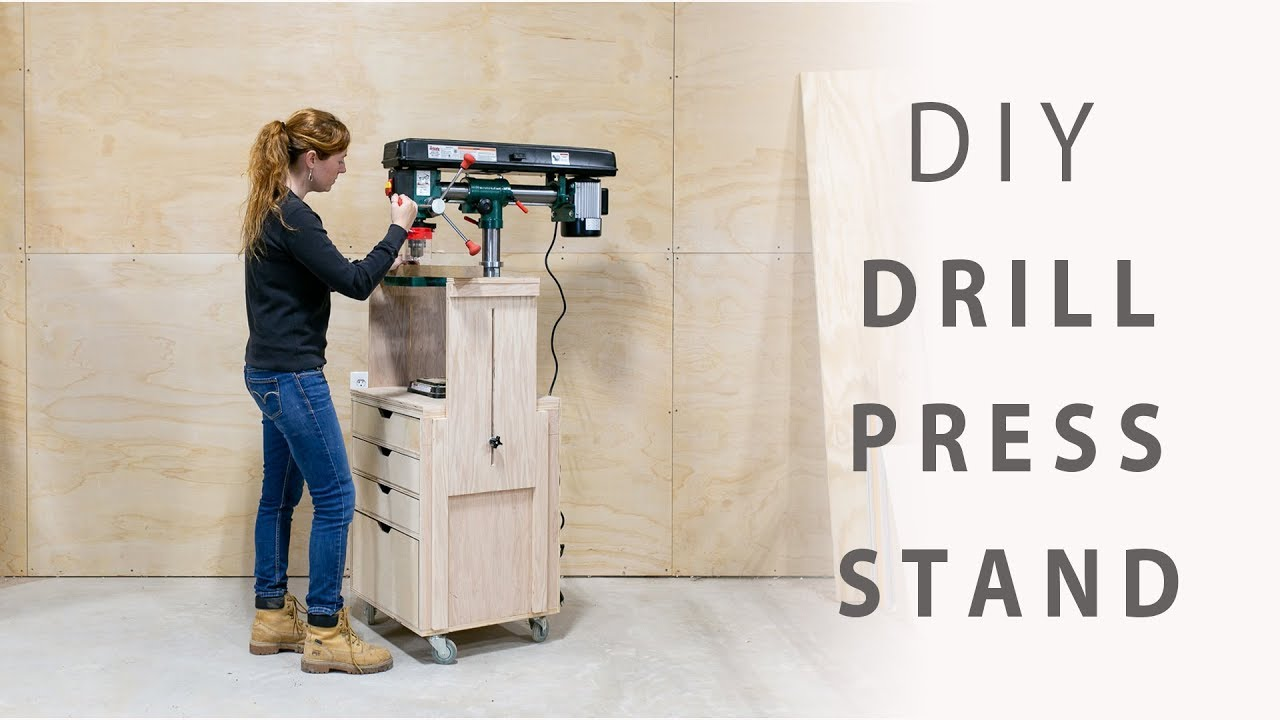 Diy Mobile Drill Press Stand Youtube