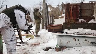 Война на Донбассе. Авдеевка. Позиции ВСУ. Январь 2018