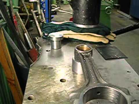 Om603 Connecting Rod Small End Bush Installation Youtube