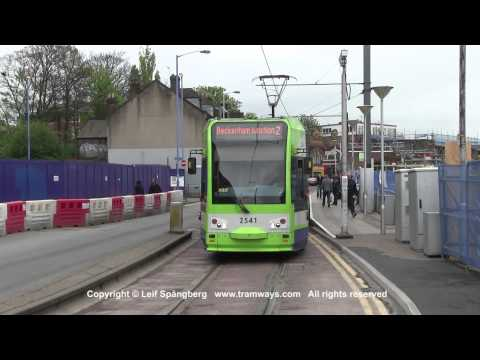 London Tramlink trams in Croydon, London