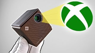 xbox-on-a-portable-laser-beam-projector-mw3-fortnite-black-ops-2-minecraft
