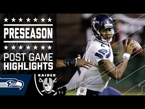 Seahawks vs. Raiders | 2016 Preseason Game Highlights | NFL
