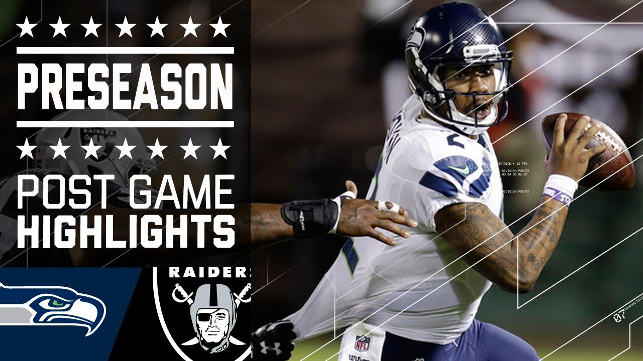 Oakland Raiders Marshawn Lynch >> Seahawks vs. Raiders | 2016 Preseason Game Highlights