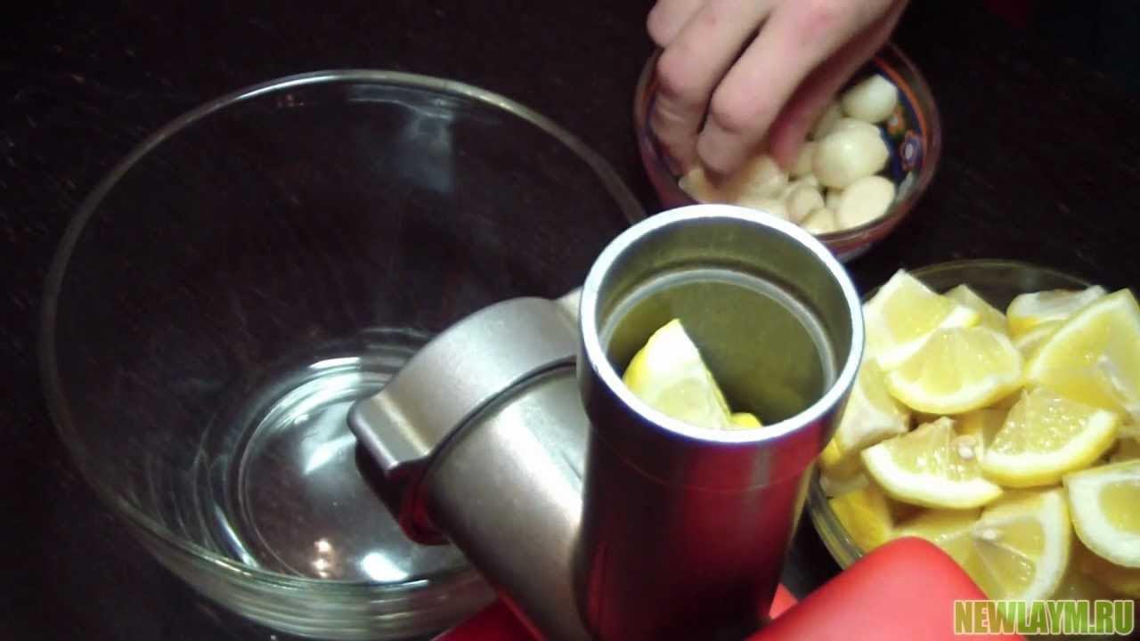 рецепт молодости с чесноком и лимоном