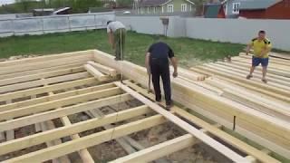 Обзор рабочего дня при строительстве дома из профилированного бруса