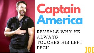 Chris Evans reveals why he always touches his left boob