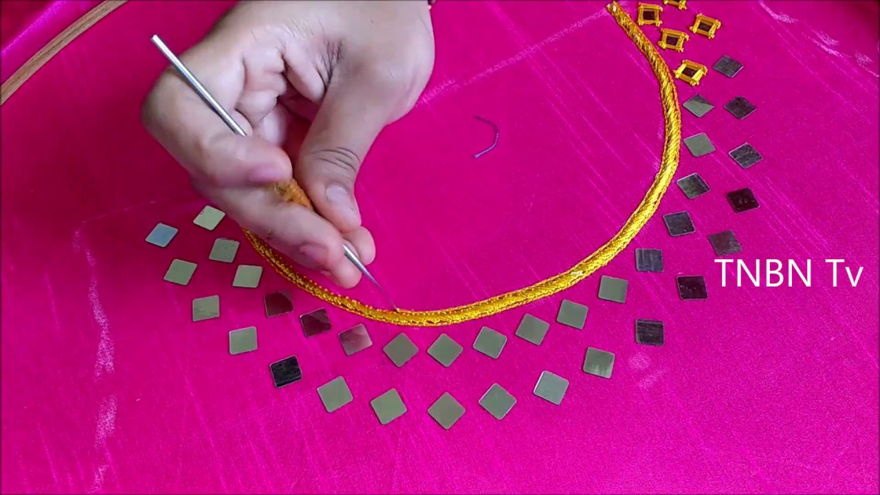 Hand Embroidery Tutorial For Beginners Mirror Work Embroidery