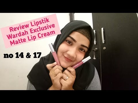 review-lipstik-wardah-exclusive-matte-lip-cream-||-no-14-&-17-||-my-honey-bee-or-rosy-cheek?