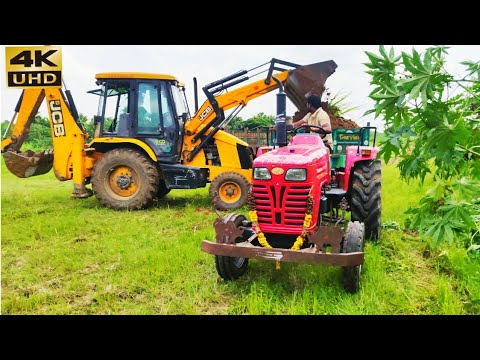 Mahindra 585 di power plus tractor with fully loaded trolley   John Deere tractor power   CFV