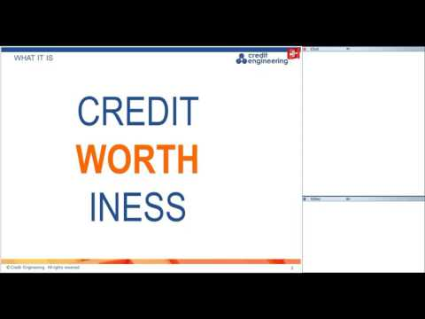 Webinar 3 of 7 Evaluation of Creditworthiness