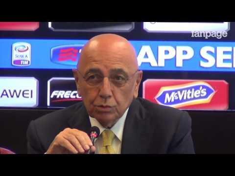 """Adriano Galliani: """"Il mercato del Milan? Diciamo che bisogna esser bravi a fare acquisti"""""""