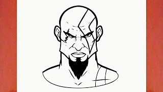 Como desenhar o Kratos do God of War (Deus da Guerra) - How to Draw Kratos from God of War (game)