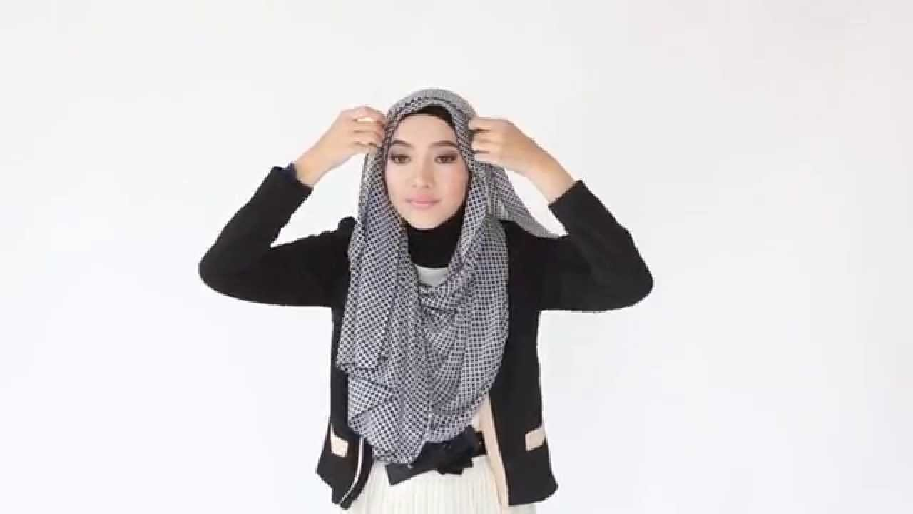 Tutorial Hijab Pashmina Menutup Dada YouTube