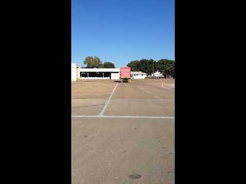 (469) 332-7188 CLass A CDL Road Test Waco TX - Straight line Backing and Parallel Park