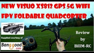 NEW Visuo XS812 review - GPS 5G WiFi FPV Foldable Quadcopter Drone under $90