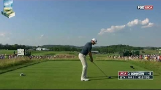 champion dustin johnsons majestic golf shots 2016 us open championship at oakmont