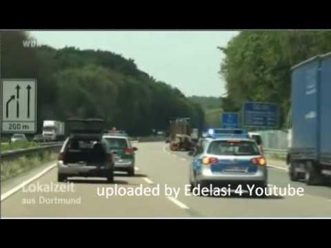 Verfolgungsjagd Deutschland, Dortmund, Polizei, beinahe Unfall (Crash) - police chase
