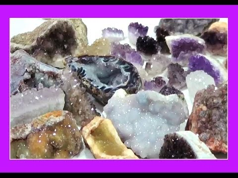 HOW TO Cut and Process Druzy and Crystal Clusters - Liz Kreate