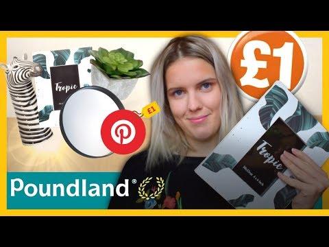 Pinterest room decor in Poundland/Dollar Store? 😳- Poundland Room Decoration Haul!