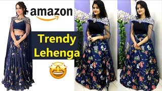 Giveaway Winner Announcement | New Amazon Trendy Lehenga Unboxing, Review & Try On | Nikki