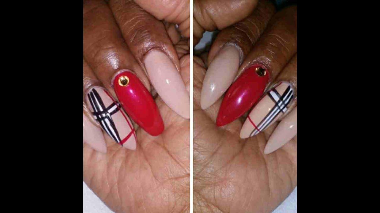 Burberry Nail Design