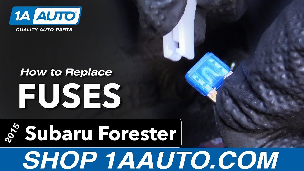 How to Replace Install Fuses 15 Subaru Forester - YouTube