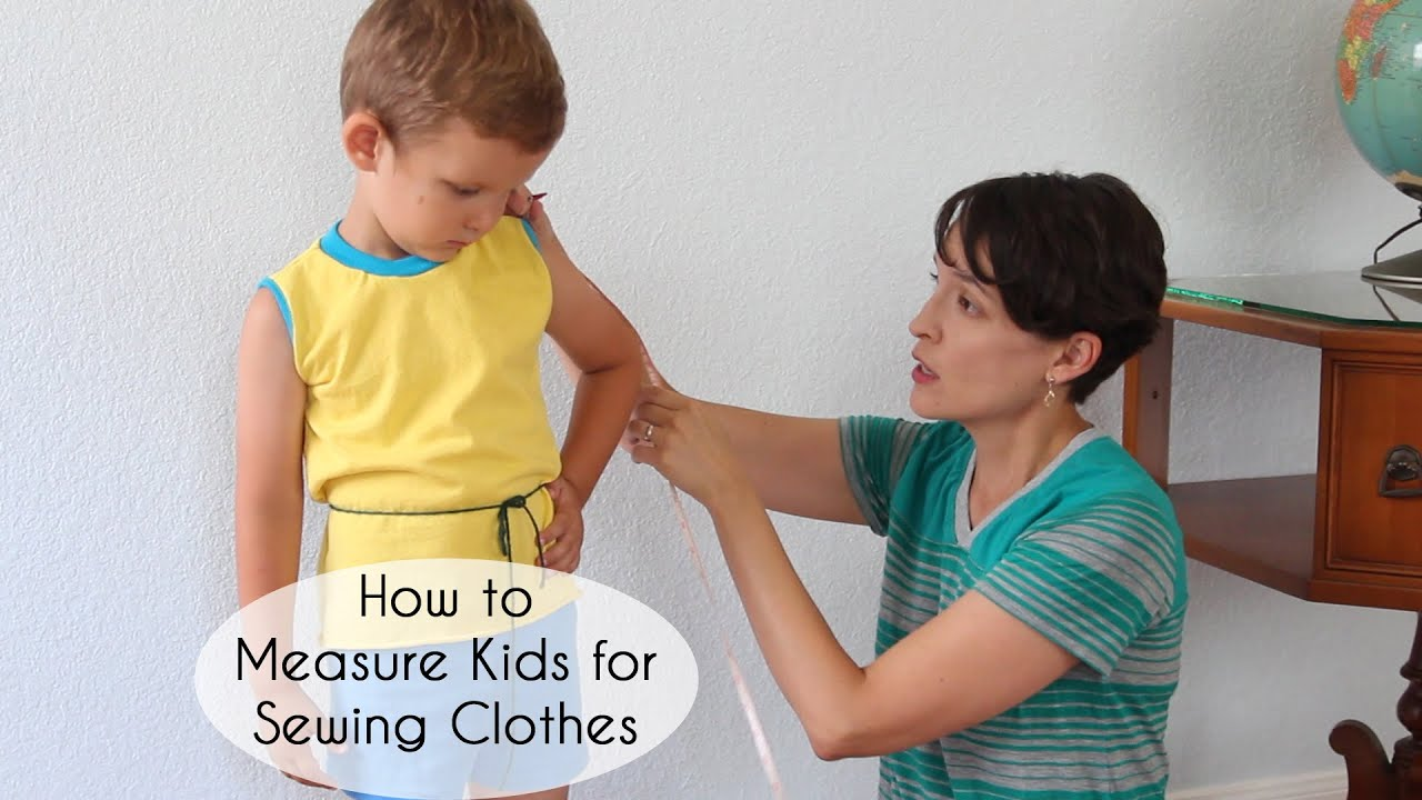 How to measure kids for sewing clothing youtube