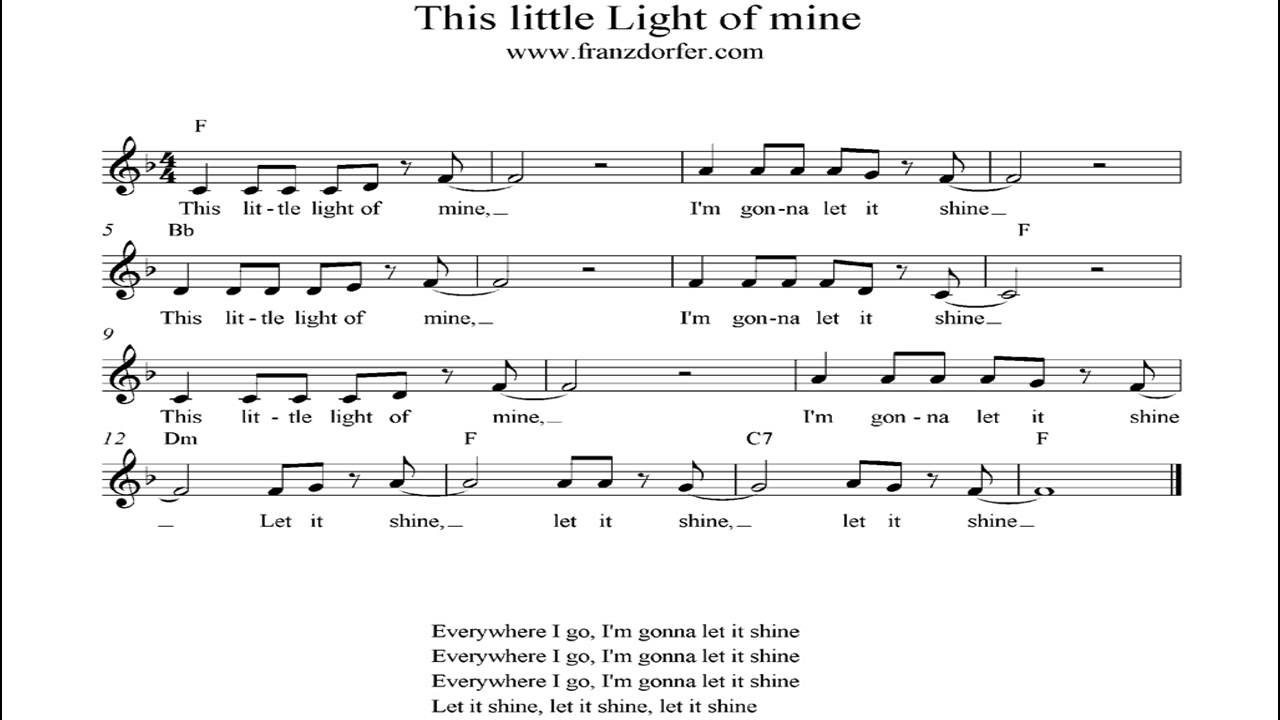 This Little Light Of Mine   Instrumental. Music Man Great Pictures