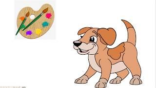 #TomDauTV - be tap ve va to mau con chó - Bé nhận biết màu sắc - Bé sớm thông minh