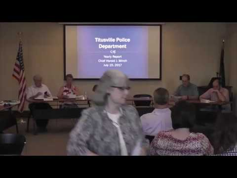 Titusville City Council July 18, 2017