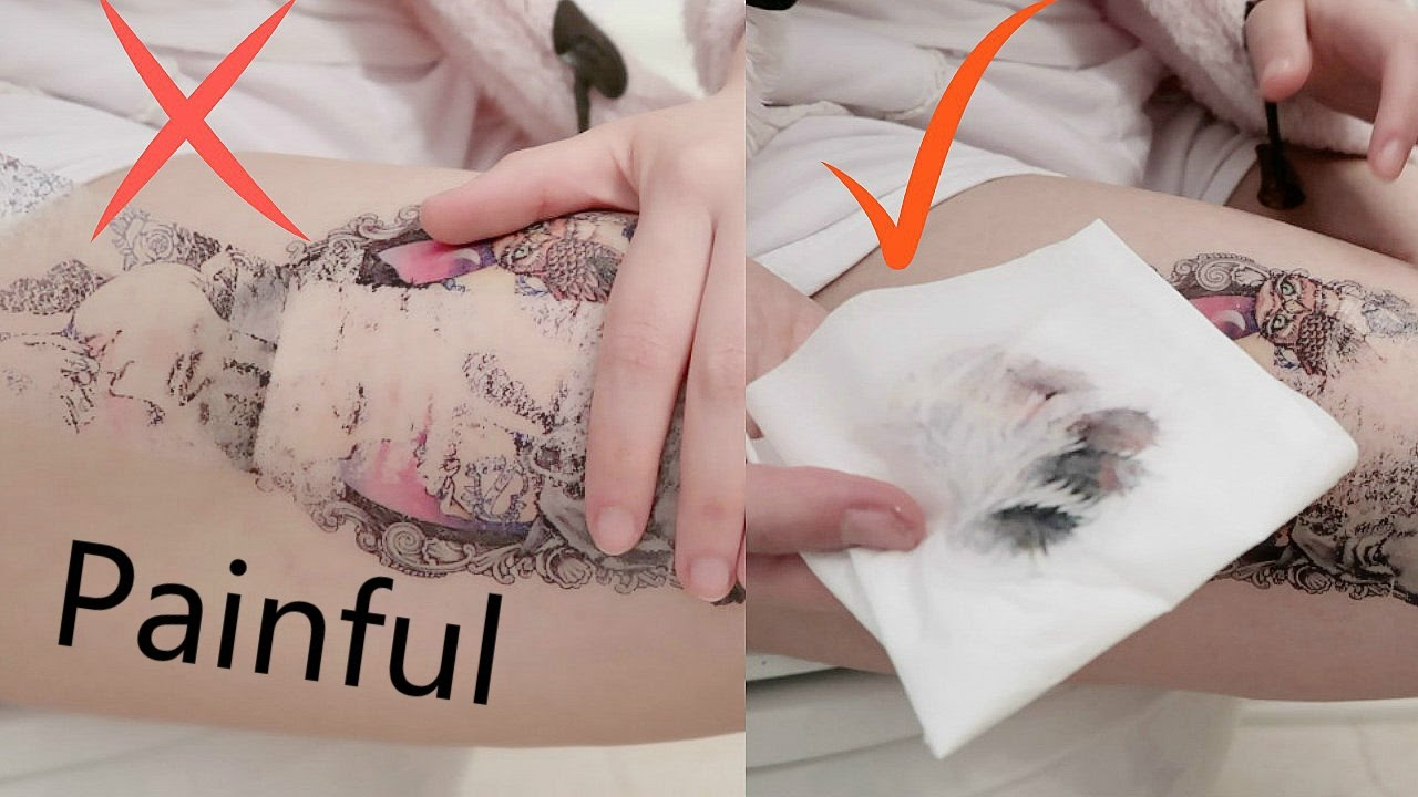 Ways To Remove Fake Tattoo What Is The Best Method Youtube