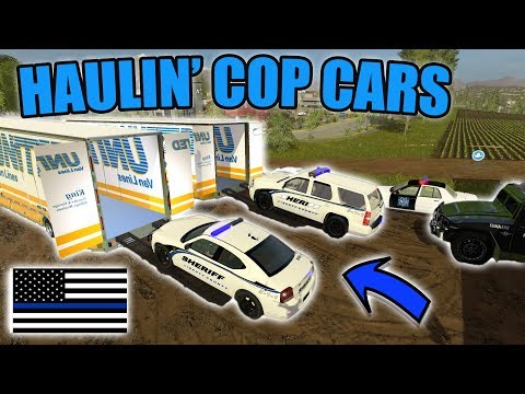 DELIVERING COP CARS | REALISTIC SERIES | SWAT TRUCK | FARMING SIMULATOR 2017