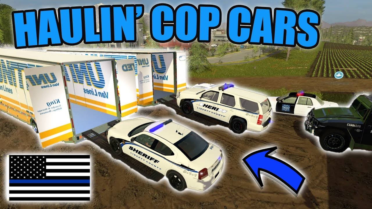 Guys Working On Cars >> DELIVERING COP CARS   REALISTIC SERIES   SWAT TRUCK   FARMING SIMULATOR 2017 - YouTube