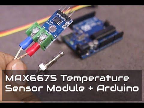 temperature sensor with arduino - k-thermocouple sensor max6675 module   circuit magic