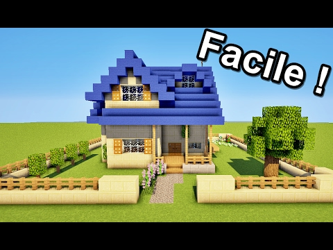 minecraft comment faire une maison facilement tuto. Black Bedroom Furniture Sets. Home Design Ideas