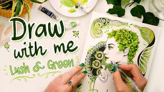 Draw With Me WALES Lush Ivy Dragon Girl + JULY country reveal