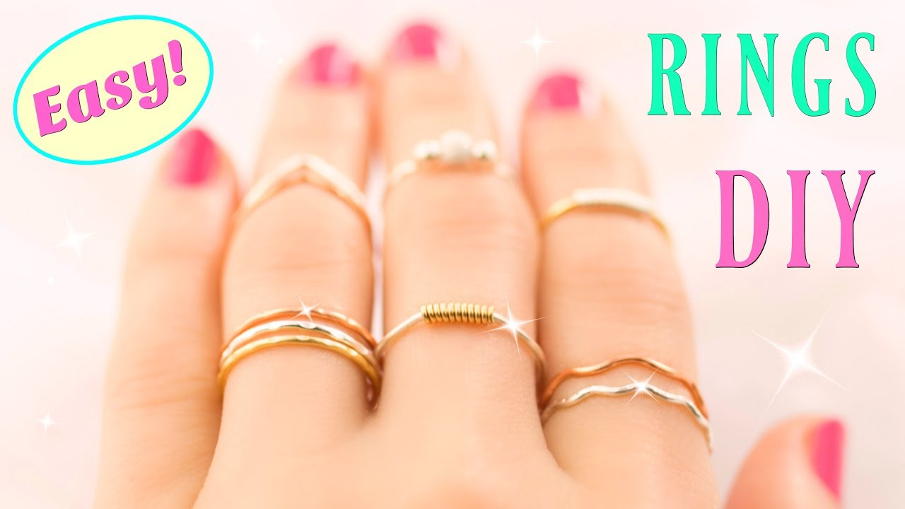 5d312fae062a7 10 DIY Rings EASY & Adjustable!! How To Make a Ring | Easy Diy Rings