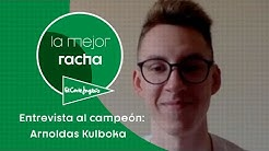 La Mejor Racha El Corte Inglés: El campeón responde   Arnoldas Kulboka
