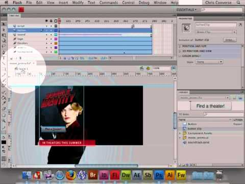 how to create play button in flash