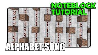 The Alphabet Song - Note Block Tutorial (Minecraft)